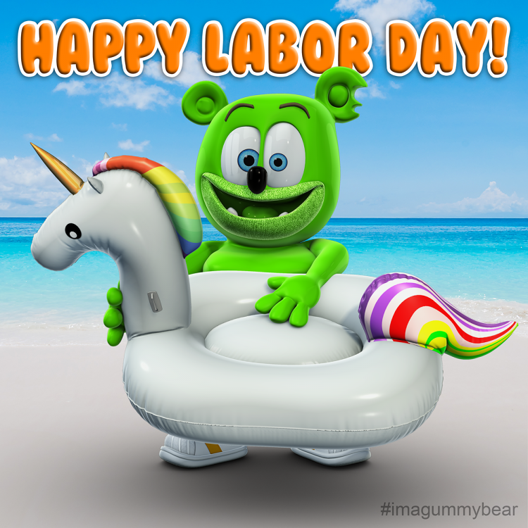 labor day 2018 gummy bear song gummibar i am a gummybear international nuki nuki unicorn tube beach summer 2018 youtube youtuber kids music childrens cartoon