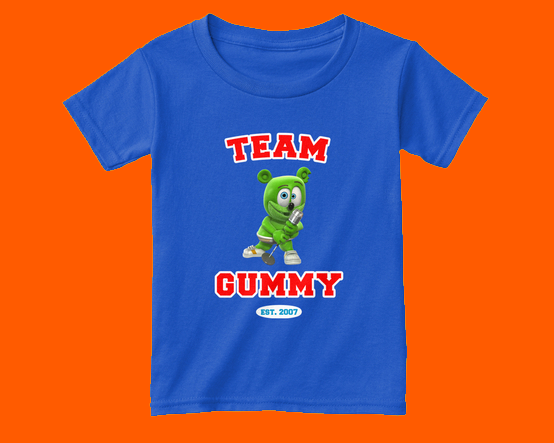 new team gummy shirts apparel kids toddlers adults the gummy bear song gummibar i am a gummybear international youtube youtuber gummy bear merchandise
