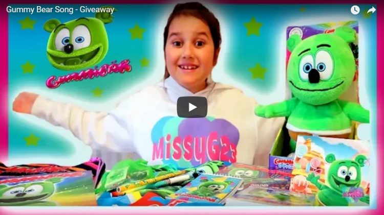 gummibär merchandise giveaway missy g23 gummy bear song kids toys childrens music gummibar