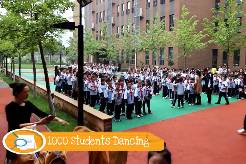 kids dance to the gummy bear song watch 1000 students china