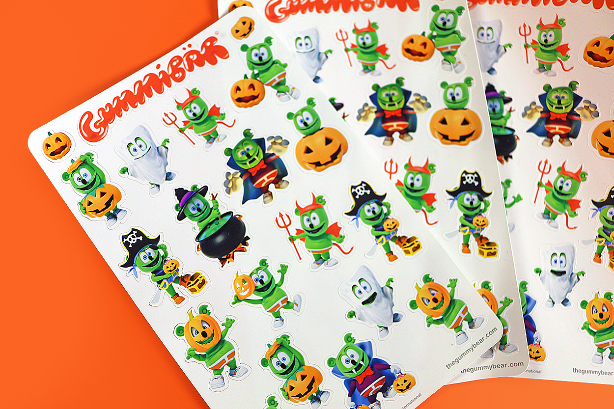 gummibar halloween costume stickers