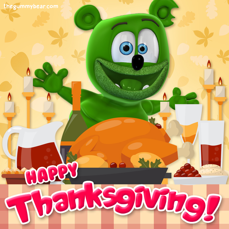 Happy Thanksgiving Gummy Bear